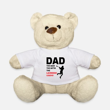 Sayings Lacrosse Player Dad Fathers day Gift - Funny Hobby - Teddy Bear
