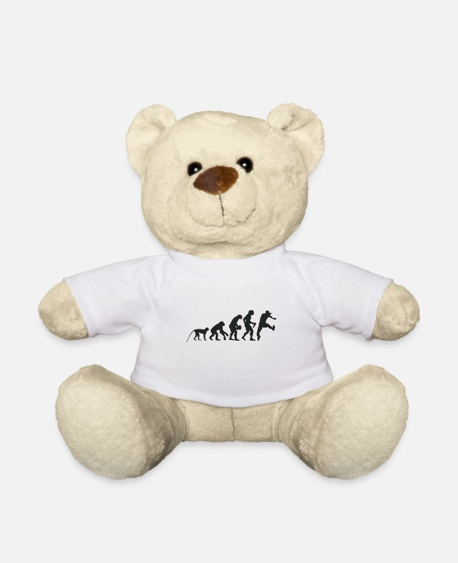 Competition Teddy Bear Toys - Evolution running - Teddy Bear white