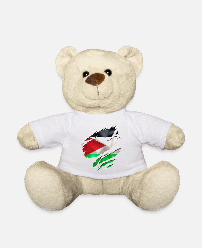 Designs Guinea Visit Wear Logo Nation With African Teddy Bear Toys - cool israel palestine - Teddy Bear white