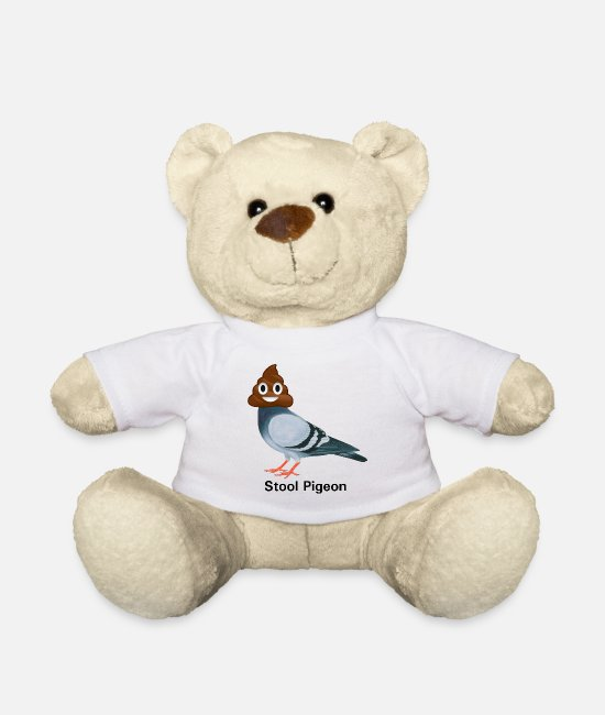 Stool Teddy Bear Toys - Stool Pigeon, ha cha cha cha - Teddy Bear white