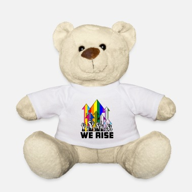 Lgbt We Rise LGBTQIA Pride Flags - Teddy Bear