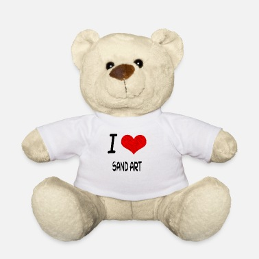 I Love Hobby Present bday SAND ART - Teddy Bear