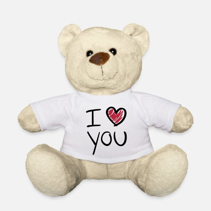 Valentine's Day Teddy Bear Toys - i_love_you__f2 - Teddy Bear white
