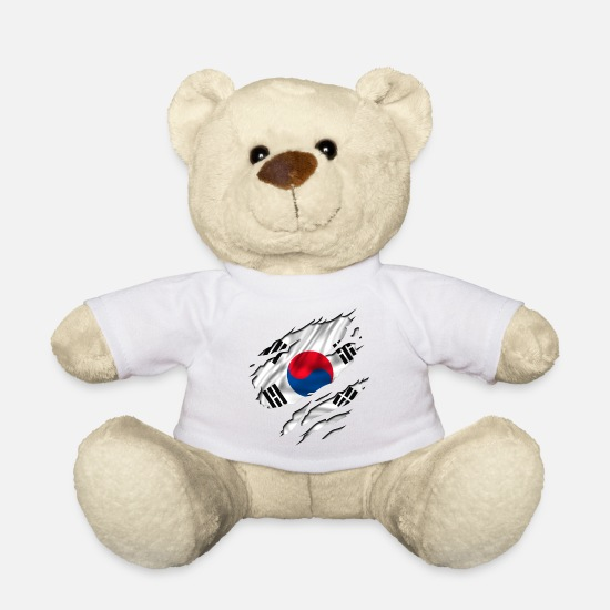 Flagge Germany Great Champion Championship Tennis Teddy Bear Toys - asia flag korea south - Teddy Bear white
