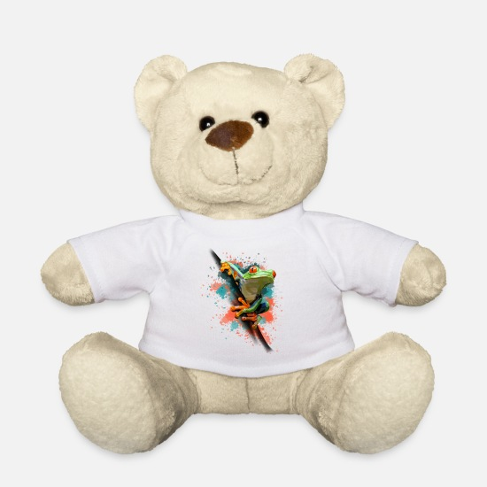 Amphibian Teddy Bear Toys - Frog - Teddy Bear white