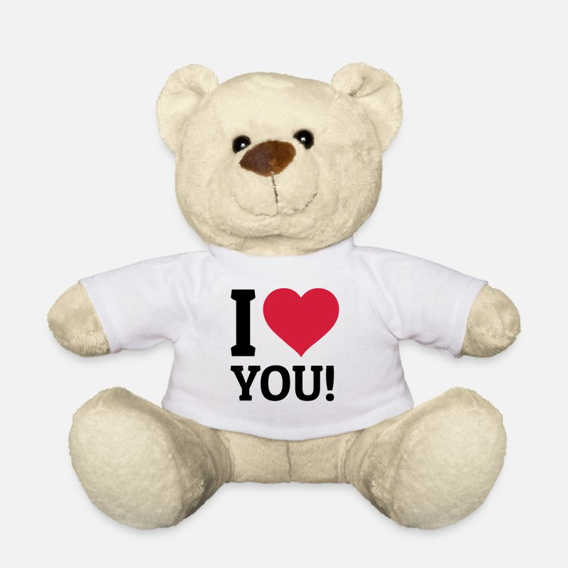 Je T'aime Peluches - I love you je t'aime - Ours en peluche blanc