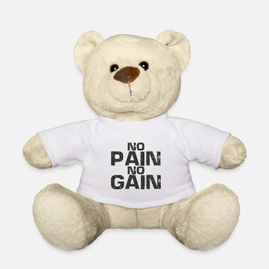 No Pain No Gain No Pain No Gain - Træning - Fitness - Bodybuilding - Bamse