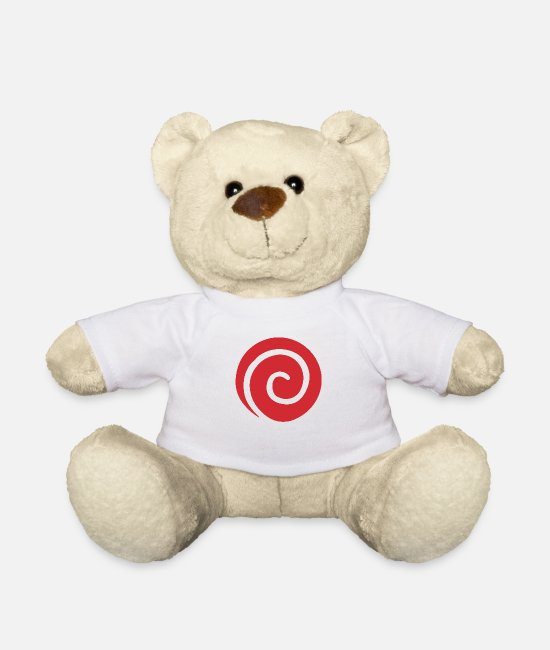 Symbol  Teddy Bear Toys - Ninja Clan Symbol - Teddy Bear white