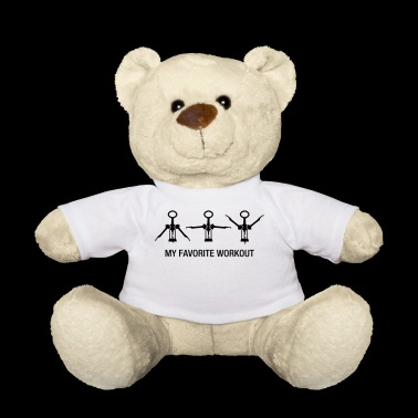 Wine Workout Training Gym Drink Wine Exercise - Teddy Bear