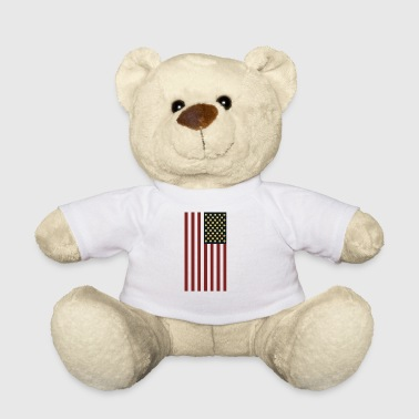 USA Flag With Dogecoin Logo- HODL Cryptocurrency - Teddy Bear