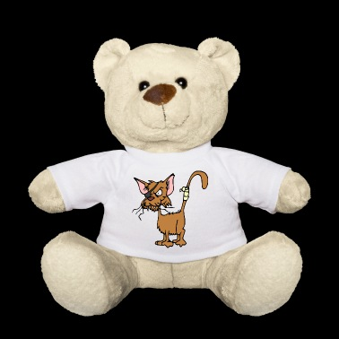 Cat with eye patch - Teddy Bear