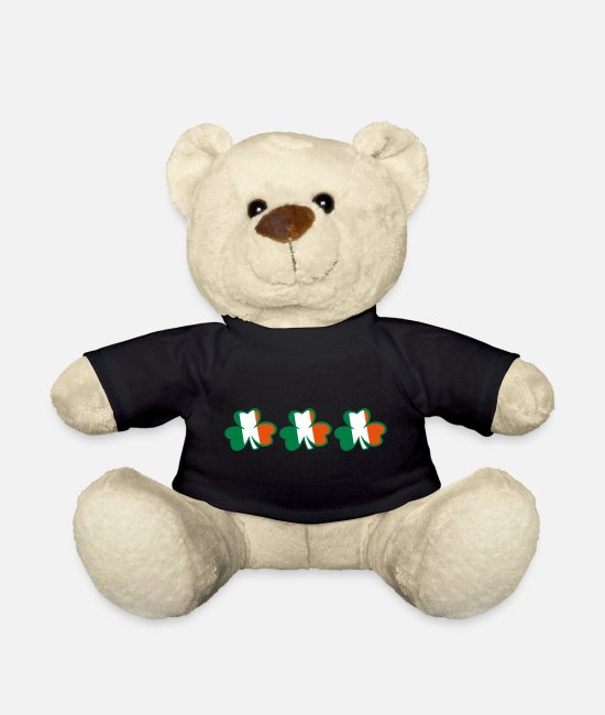 Best Awesome Superb Cool Amazing Identity Ethnicity Race People Language Country Design Teddy Bear Toys - ♥ټ☘Kiss the Irish Shamrocks to Get Lucky☘ټ♥ - Teddy Bear black