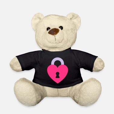 Padlock Heart Padlock - Teddy Bear