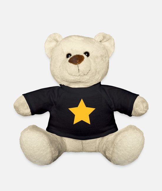 Hipster Teddy Bear Toys - Spirituality Star Symbol - Teddy Bear black