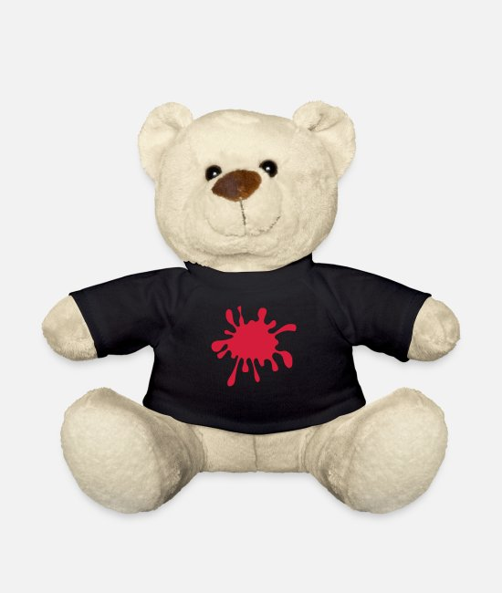 Water Teddy Bear Toys - Splatter Splash Grunge - Teddy Bear black