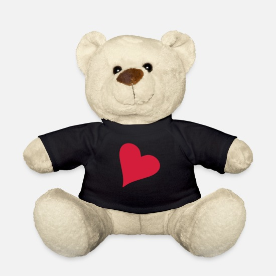 Love Teddy Bear Toys - Weird heart symbol red - Teddy Bear black
