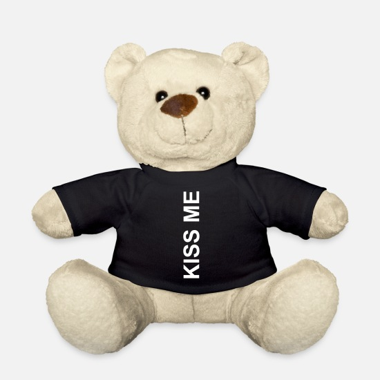 Bed Teddy Bear Toys - Kiss me kiss love kiss kiss me - Teddy Bear black