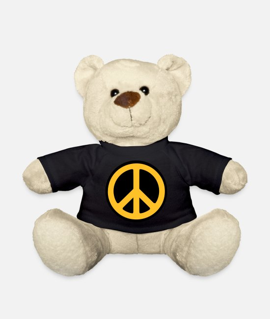 Hippie Teddy Bear Toys - Peace - Teddy Bear black