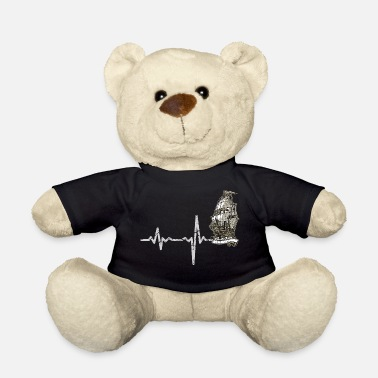 Mast Gift Heartbeat sailing ship three-masted - Teddy Bear