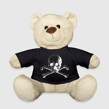 Skull with crossed bones white - Teddy Bear