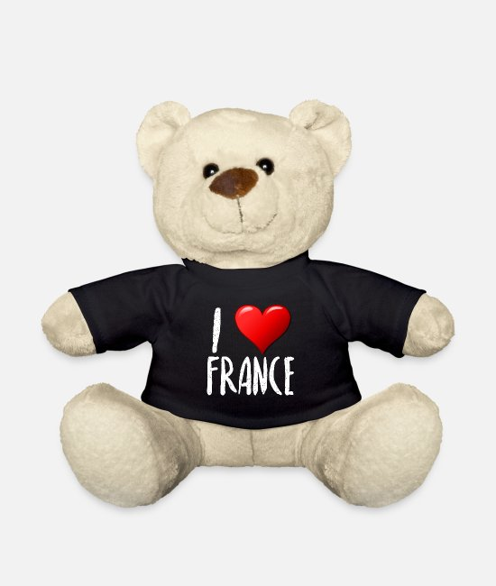 Renner Teddy Bear Toys - I Love France - Teddy Bear black