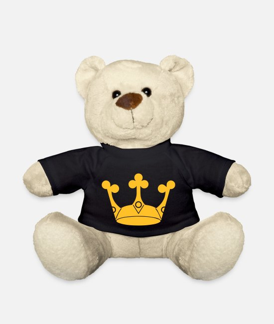 Vacation Teddy Bear Toys - Crown Winner King Queen Princess - Teddy Bear black