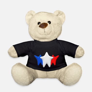 Red White And Blue Stars in blue, white and red - Teddy Bear