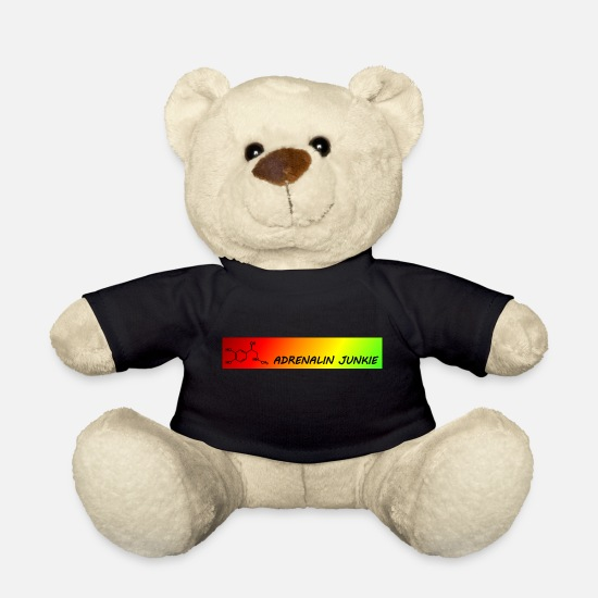 Junkie Teddy Bear Toys - Adrenaline junkie - Teddy Bear black
