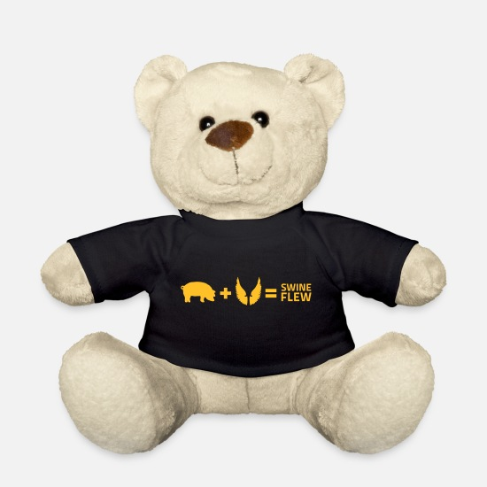 Influenza Teddy Bear Toys - The Swine Flu - Teddy Bear black