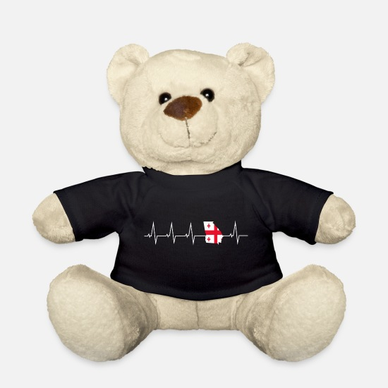 Georgia Teddy Bear Toys - I love Georgia - Georgia - heartbeat - Teddy Bear black