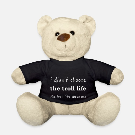Troll Teddy Bear Toys - troll life - Teddy Bear black