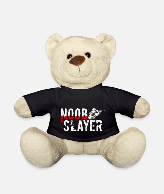 Progamer Teddy Bear Toys - Noob Slayer - Gamer Gaming FPS - Teddy Bear black