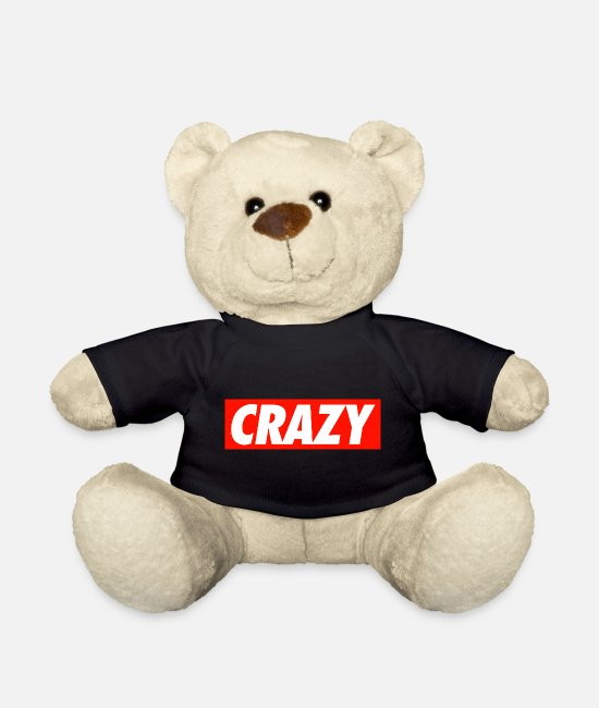 Rock Teddy Bear Toys - Crazy - Teddy Bear black