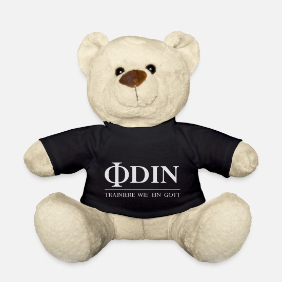 Odin Teddy Bear Toys - ODIN Train like a god (vector) - Teddy Bear black