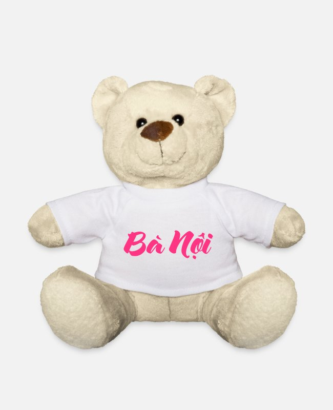 Southeast Asia Teddy Bear Toys - Vietnamese (Paternal) Grandmother - Bà Nội - Teddy Bear white