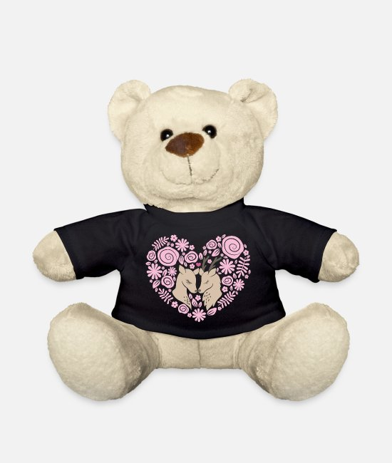 Heart Teddy Bear Toys - Deer love - Teddy Bear black