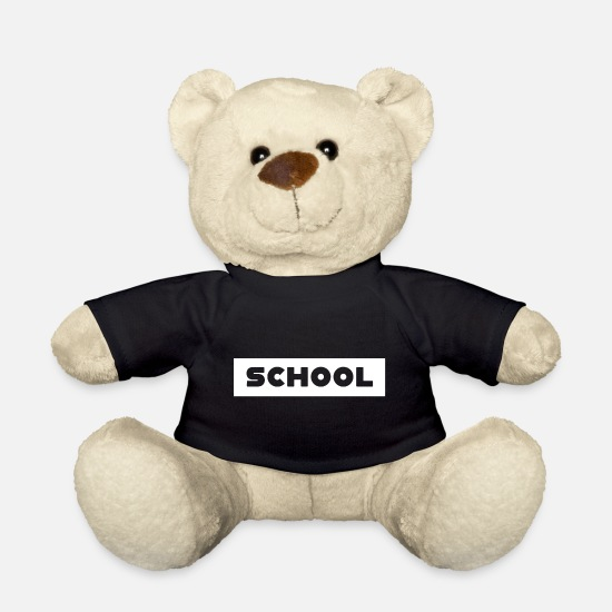 Kindergarten Teddy Bear Toys - School Back to School Back to school - Teddy Bear black