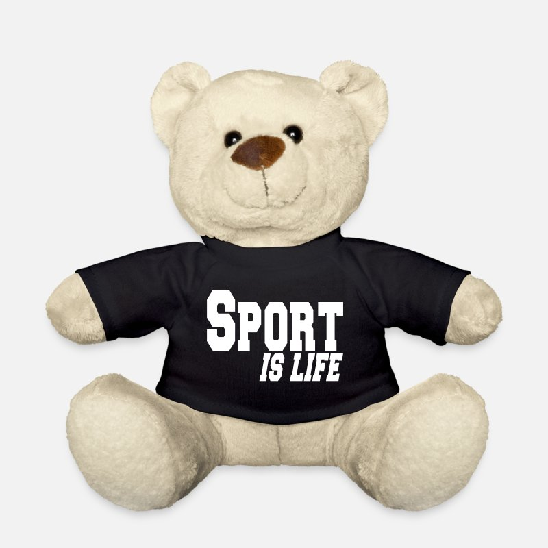 Sports Peluches - sport is life - Ours en peluche noir