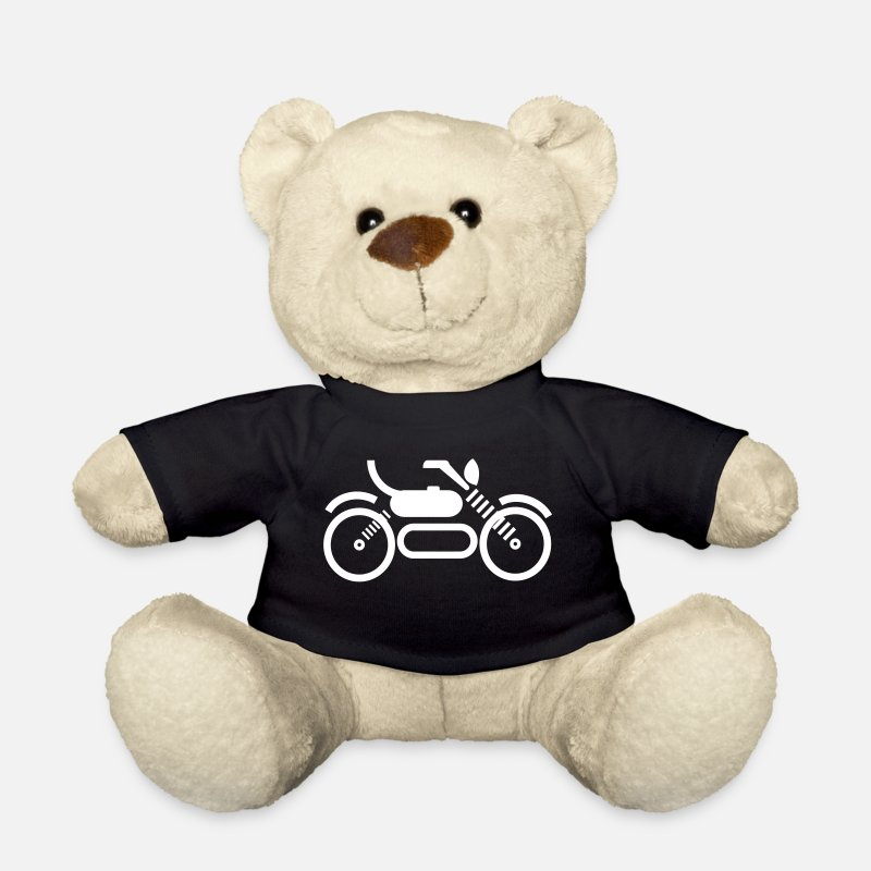 Motorbike Teddy Bear Toys - Motorbike - Teddy Bear black