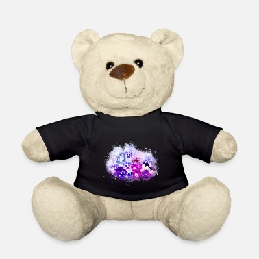 Abnormal Pansy isolated brightly glowing - Teddy Bear