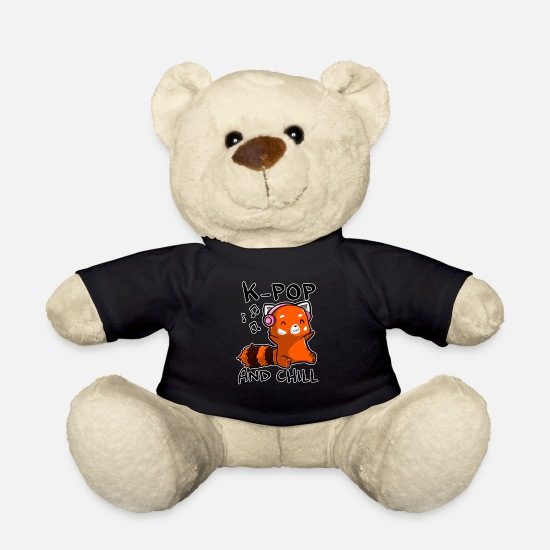 Wife Teddy Bear Toys - K Pop and Chill - K-Pop Fan Design - Teddy Bear black