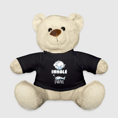 Funny Aquatic Fish - Inhale Exhale - Teddy Bear