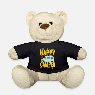 Motorhome Happy Camper T-shirt with camper and heart - Teddy Bear