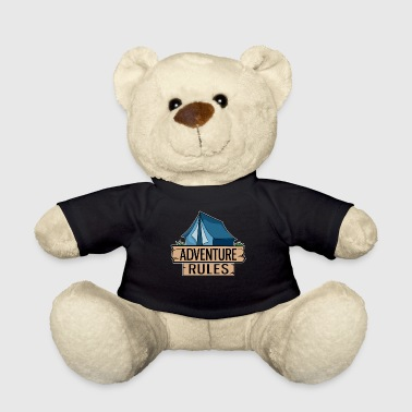 Tent Blue Adventure Camping Outdoor Gift Idea - Teddy Bear