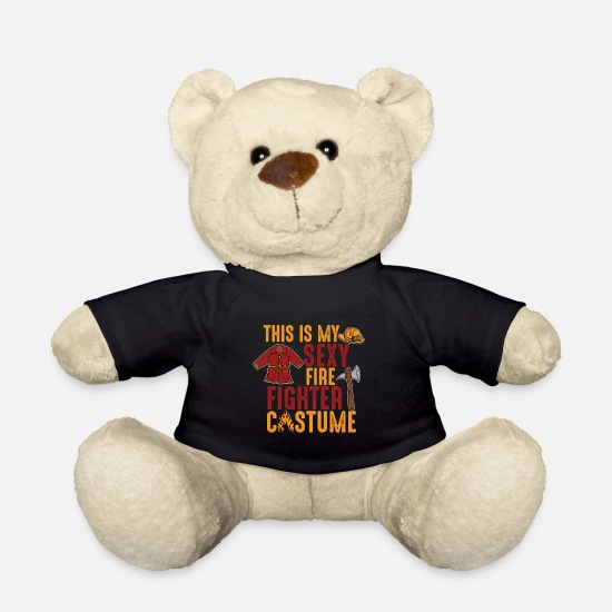 Fire Teddy Bear Toys - fire Department - Teddy Bear black