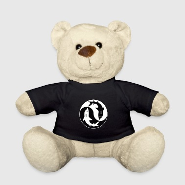 Hai Yin Yang - Black White Logo - Teddy Bear