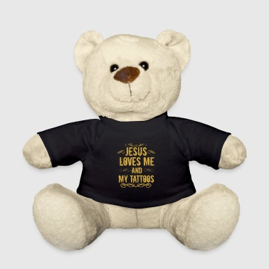 Godmother Jesus loves tattoos gift - Teddy Bear