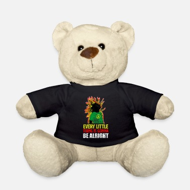 Rastafari Reggae rastafari peace and love - Teddy Bear
