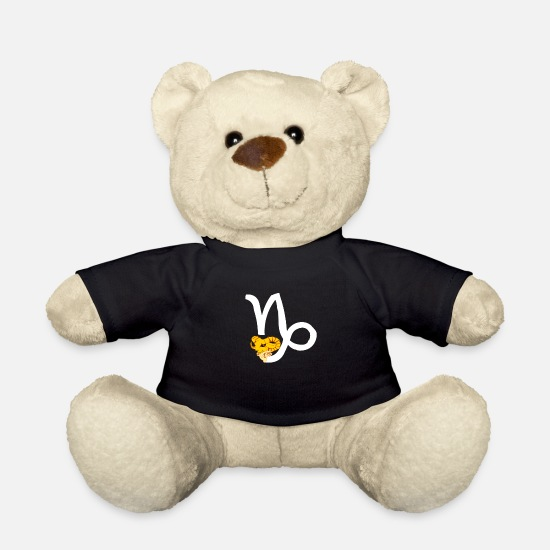 Starry Sky Teddy Bear Toys - Zodiac Capricorn Astrology Horoscope Faith - Teddy Bear black