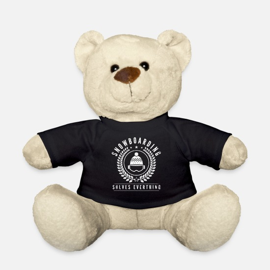 Gift Idea Teddy Bear Toys - Solve snowboarding - Teddy Bear black